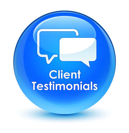 authenticate: Client testimonials glassy blue button