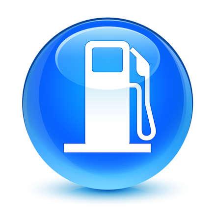 dispenser: Fuel dispenser icon glassy blue button