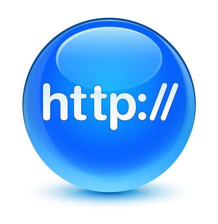 Http glassy blue button photo