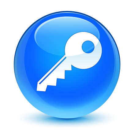insecure: Key icon glassy blue button