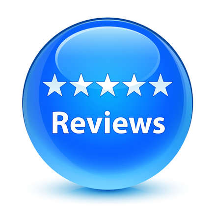 reviews: Reviews glassy blue button