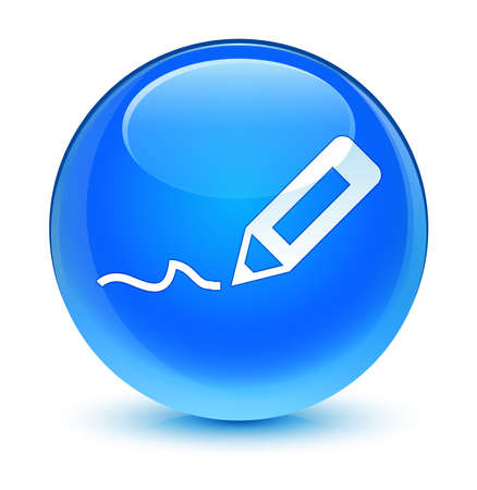 sign up icon: Sign up icon glassy blue button
