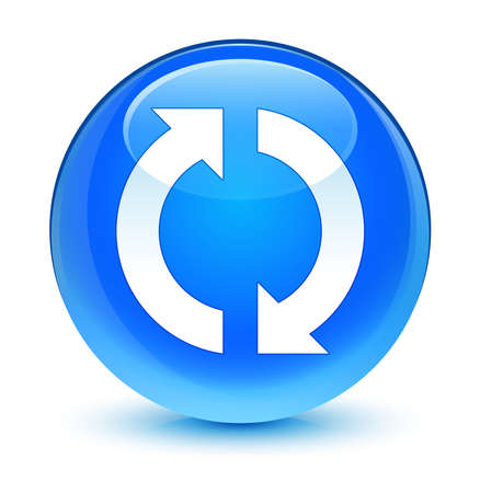 blue button: Update icon glassy blue button Stock Photo