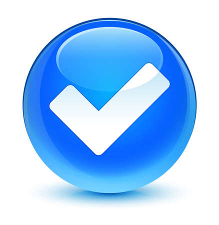 validation: Validate icon glassy blue button