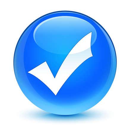 validation: Validation icon glassy blue button
