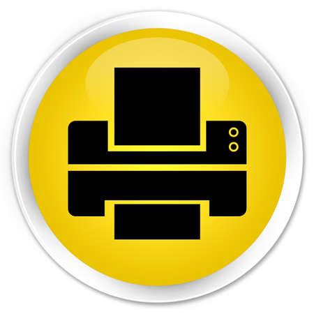 multifunction printer: Printer icon yellow glossy round button
