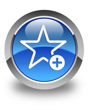 chose: Add to favorite icon glossy blue round button Stock Photo