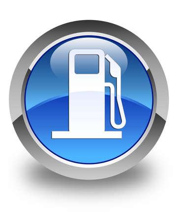 dispenser: Fuel dispenser icon glossy blue round button