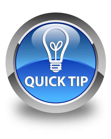 quick: Quick tip (bulb icon) glossy blue round button