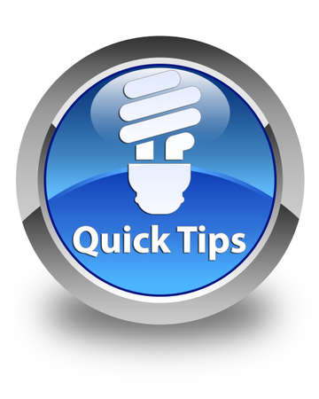 hints: Quick tips (bulb icon) glossy blue round button