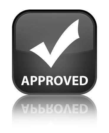 valider: Approuv� (validate ic�ne) bouton carr� noir