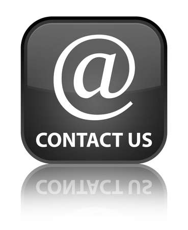 email address: Contact us (email address icon) black square button