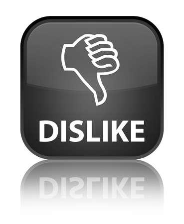 dislike: Afkeer zwarte knop vierkante