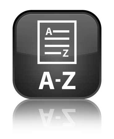 az: A to Z (list page icon) black square button