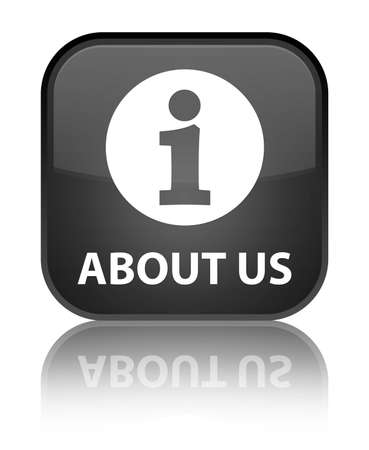 'about us': About us black square button