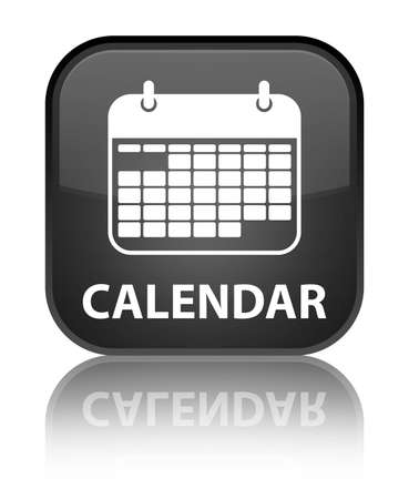 square button: Calendar black square button Stock Photo