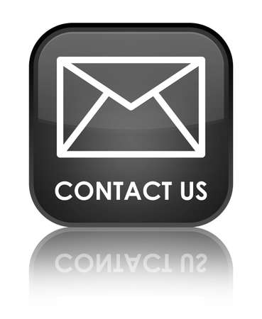 email contact: Contact us (email icon) black square button