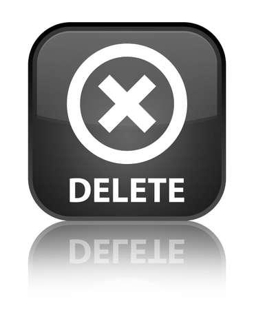 delete: Delete black square button