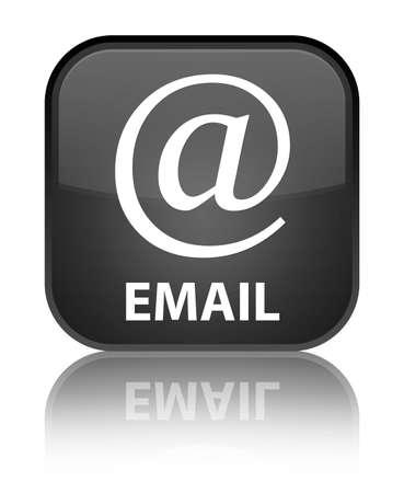 Email (address icon) black square button photo