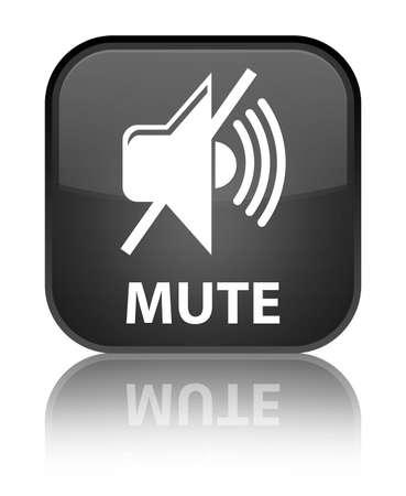 mute: Mute black square button