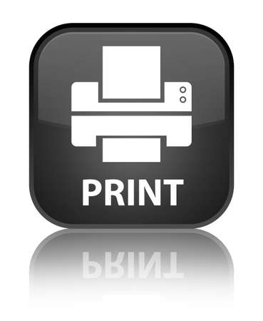multifunction printer: Print (printer icon) black square button Stock Photo