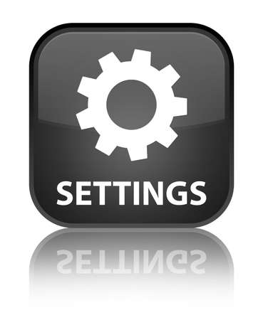 preference: Settings black square button
