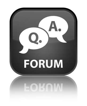 how to: Forum (question answer bubble icon) black square button