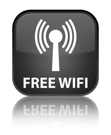 wlan: Free wireless (wlan network) black square button
