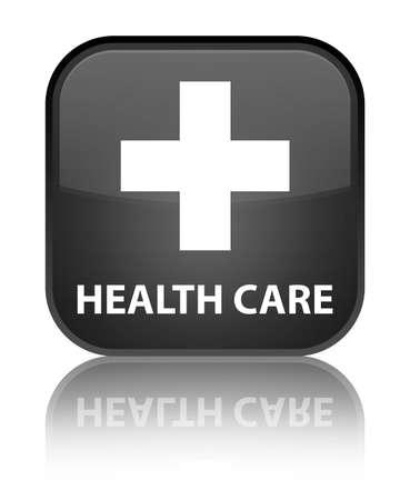 plus sign: Health care (plus sign) black square button