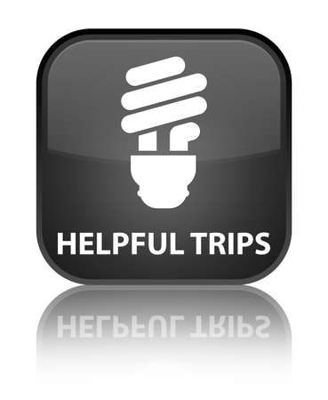 hints: Helpful tips (bulb icon) black square button