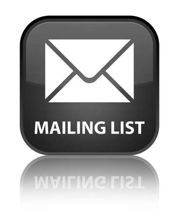 mailing: Mailing list black square button