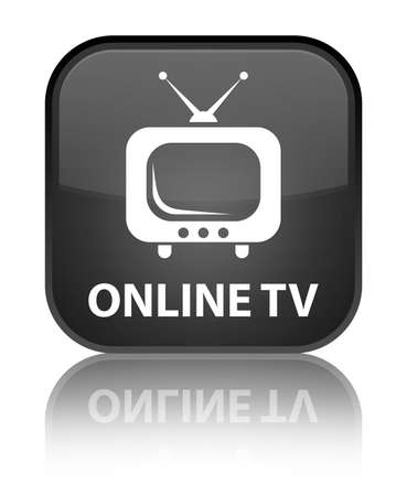 live entertainment: Online tv black square button