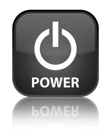 shutdown shut down: Power black square button