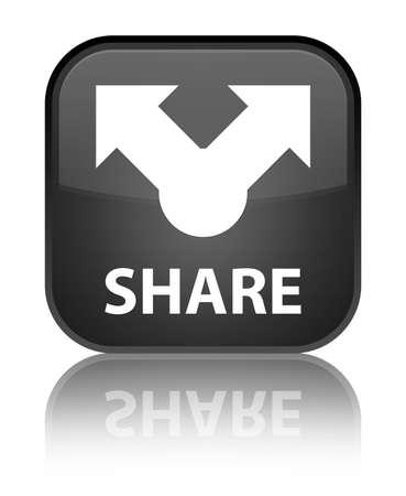 publishes: Share black square button