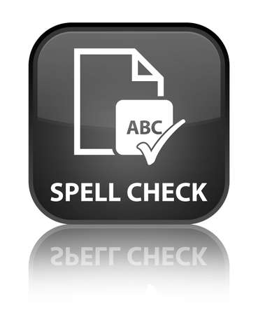 spell: Spell check document black square button