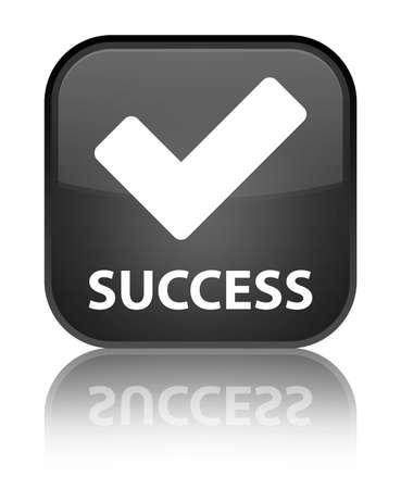 validate: Success (validate icon) black square button Stock Photo