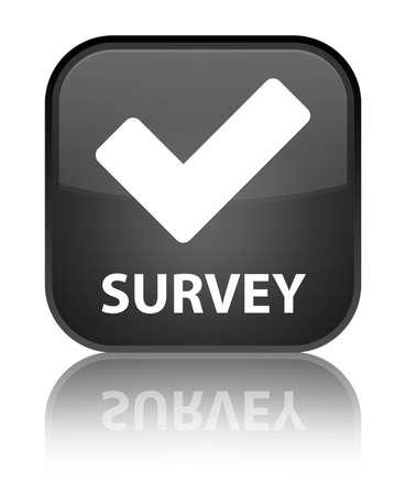 validate: Survey (validate icon) black square button Stock Photo