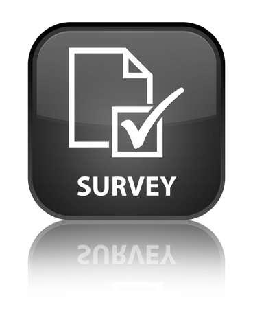 Survey black square button photo