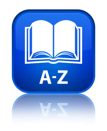 az: A-Z (book icon) blue square button