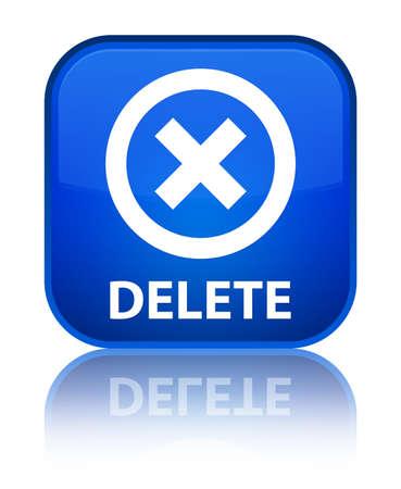 Delete blue square button photo