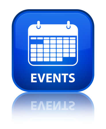 current events: Events (calendar icon) blue square button