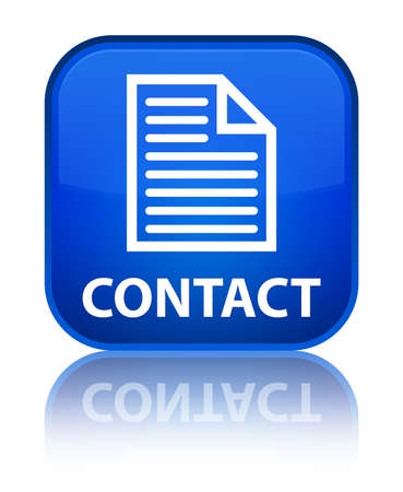 contact page: Contact (page icon) blue square button
