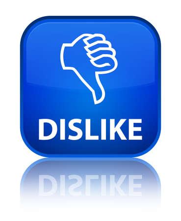 dislike: Dislike blue square button