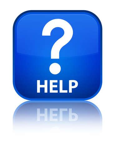 Help (question icon) blue square button photo