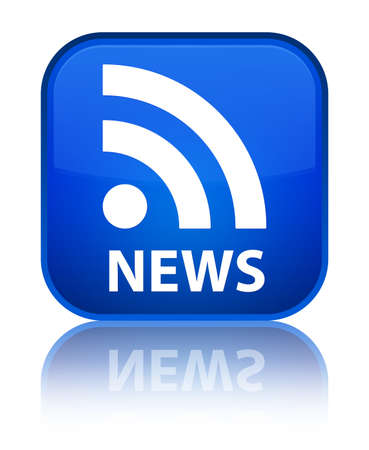 news current events: News (RSS icon) blue square button