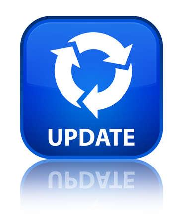 update: Update (refresh icon) blue square button