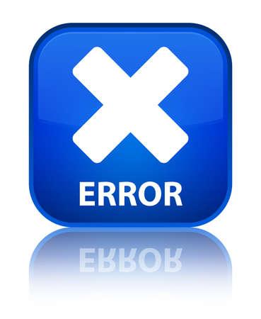 disagree: Error (cancel icon) blue square button