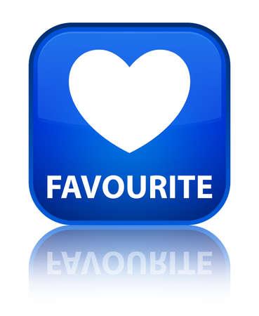 favourite: Favourite (heart icon) blue square button