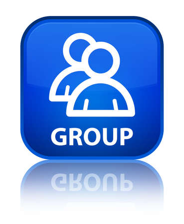 Group blue square button photo