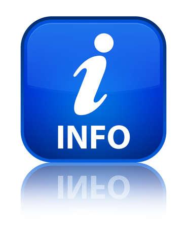 inquiry: Info blue square button